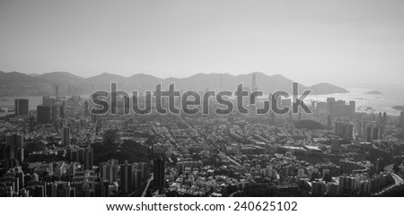 The Polluted City - stock photo