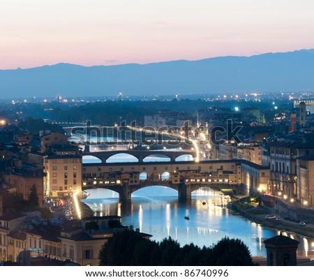The Ponte Vecchio, Florence, Italy - stock photo