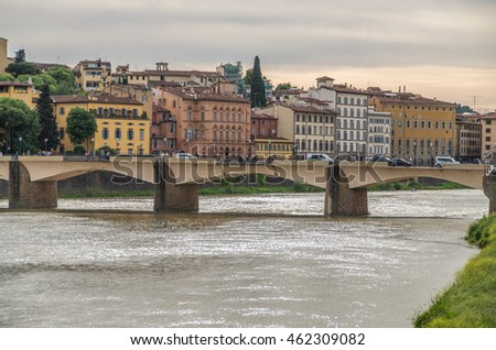 The Ponte Vecchio is a famous and historical bridge over the River Arno