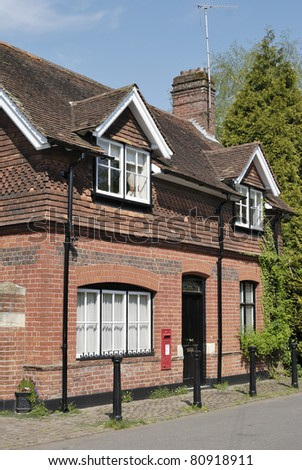 The Post Office in the village of Shoreham, Kent, England. Brick and tile building - stock photo