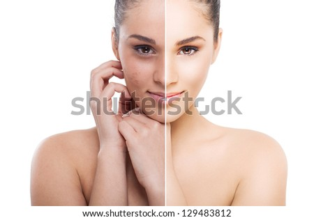 The power of retouch - stock photo