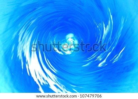 The power of the water. - stock photo