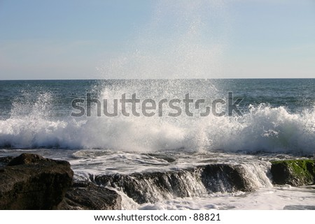 The power of waves - stock photo