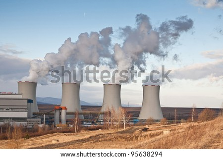 the power plant Tusimice - Czech Republic - stock photo