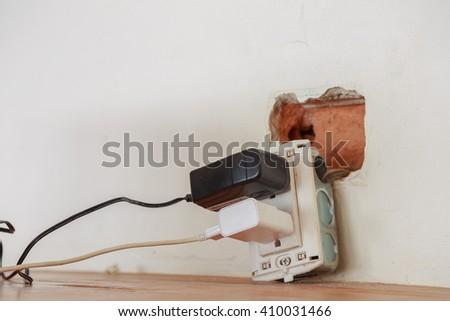 The power plug - stock photo