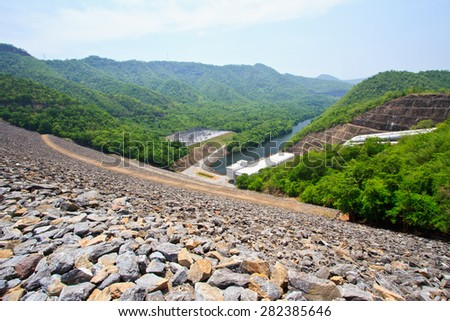 The power station Dam in Thailand - stock photo