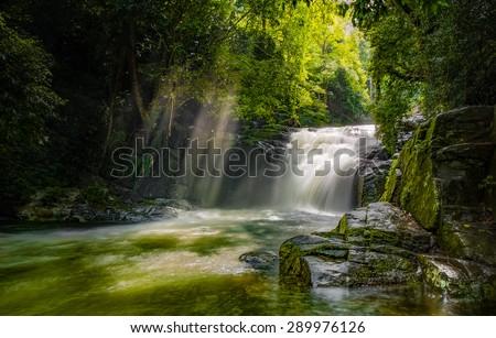 The precious waterfall - stock photo