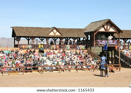 The prelude to a joust. - stock photo