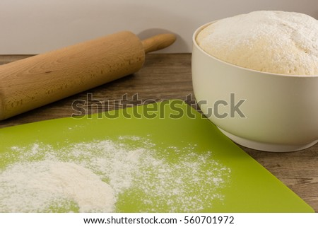 The preparation of yeast dough