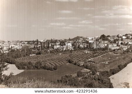 The present landscape of San - Marino, Italy, Europe. - stock photo