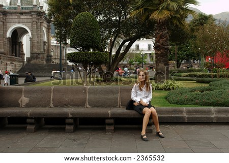 the presidential area. quito. ecuador. south america - stock photo