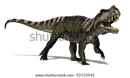 The Prestosaurus dinosaur lived in South America during Late Triassic Period -3d render.