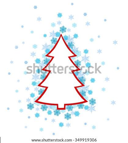 Christmas Tree Pattern Varicolored Snowflakes Xmas Stock Vector  - Christmas Tree Discounts