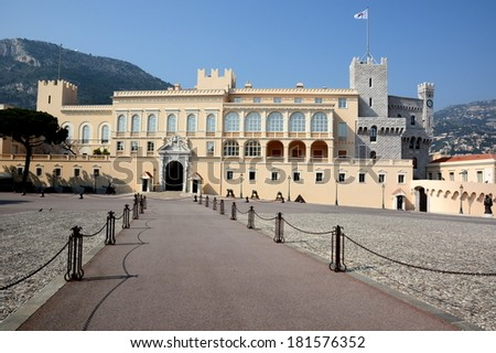 The principality of Monaco is a small state which knew how to to protect its independence. The princely palace is the seat of government managed by the Prince Albert 2 son of the Princess Grace.  - stock photo