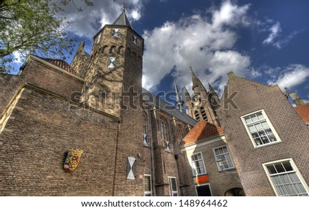 The Prinsenhof in Delft, Holland - stock photo
