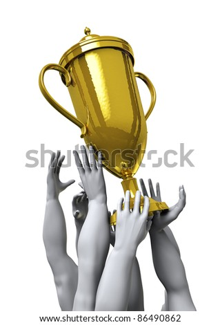 The prize - stock photo