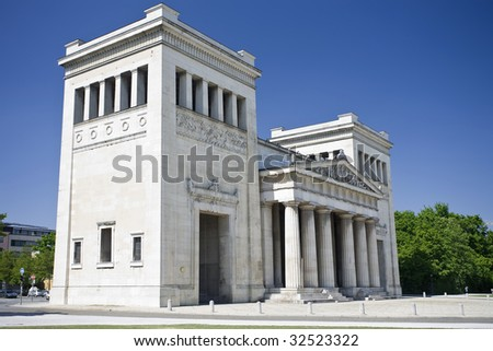 The Propylaen monument in Munich, Bavaria