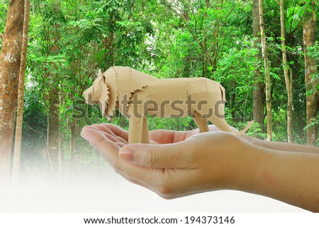 the protection of wildlife - stock photo