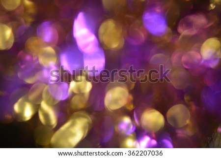The purple blue, gold, silver background. Elegant abstract background with bokeh defocused lights, suitable for holiday background, Christmas, New year, Valentine's day - stock photo