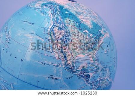 the purple globe - stock photo