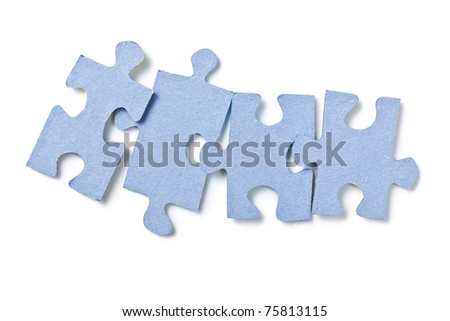the puzzle pieces on white background