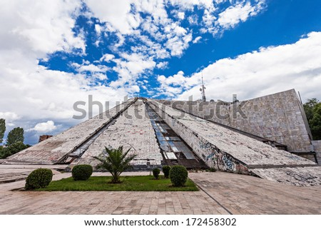 The Pyramid in Tirana was built by communist dictator Enver Hoxha