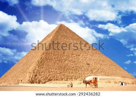 the pyramid of Giza in Egypt - stock photo