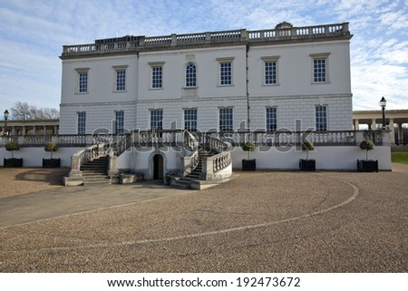 The Queen's House at The Royal Maritime Museum in Greenwich, England - stock photo