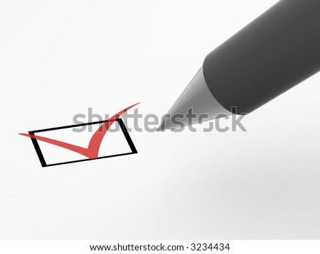 The questionnaire. 3d - stock photo