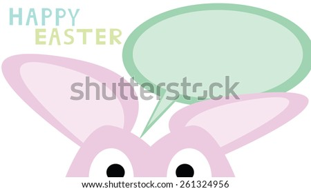 The rabbit and board for easter day - stock photo