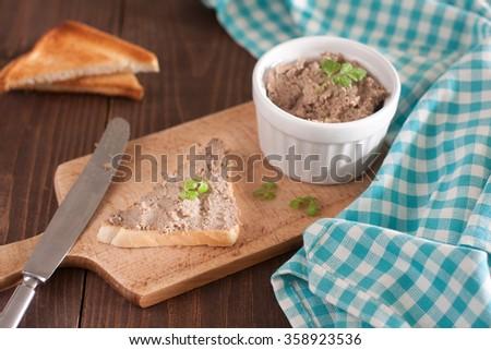 The rabbit liver pate - stock photo