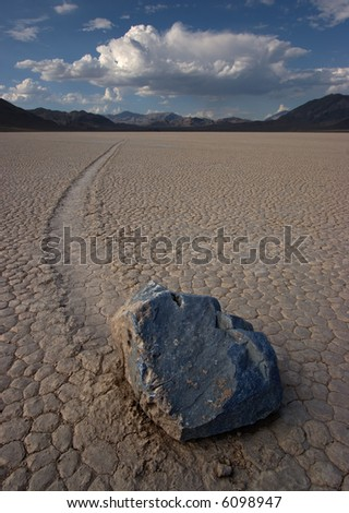 The Racetrack, Death Valley National Park - stock photo