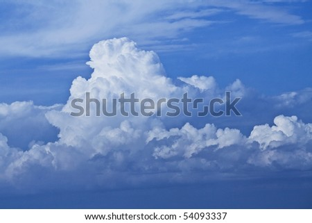 The raging clouds against the sky. Background - stock photo