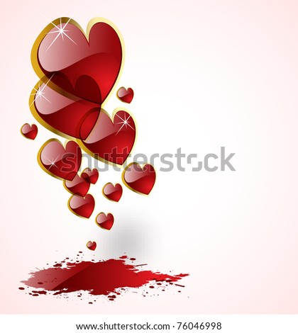the raster abstract hearts background