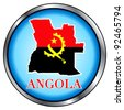 The Raster version of Illustration for Angola, Round Button. - stock photo