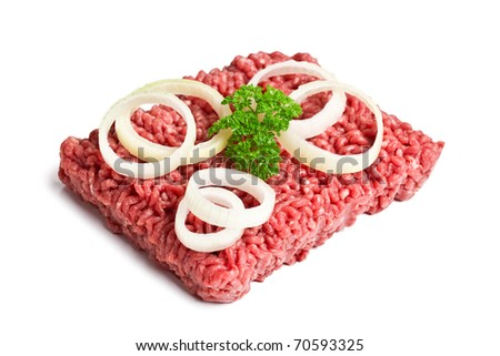 the raw minced meat - stock photo