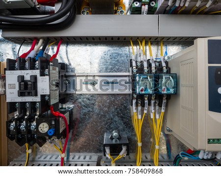 real life industrial wiring magnetic overload stock photo safe to rh shutterstock com Wiring for Idiots GM Wiring Diagrams For Dummies