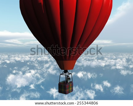 the red balloon - stock photo