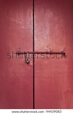 The red door was locked.