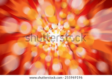 The Red Fire abstract light background defocused - stock photo