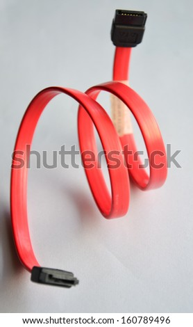 The Red SATA cable  - stock photo