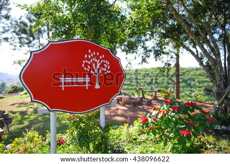 The red signboard - stock photo