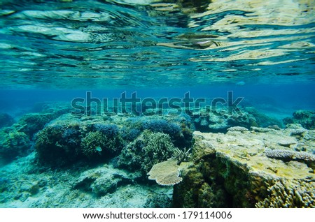 The Reef in YOSHINO Coast, Okinawa Prefecture/Japan, 2013/6/17.  - stock photo