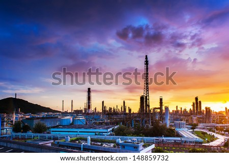 The refinery - stock photo