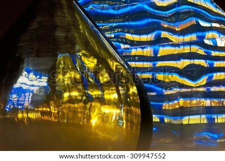 The reflection of light to see the building. - stock photo