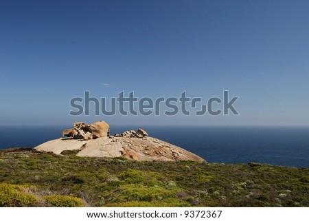 The Remarkable Rocks on Kangaroo Island, South Australia - stock photo