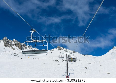 The Remarkables Ski Area Queenstown New Zealand - stock photo