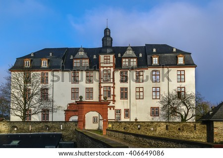 The Renaissance-style Residence palace was built in 1614â??1634, Idstein, Germany