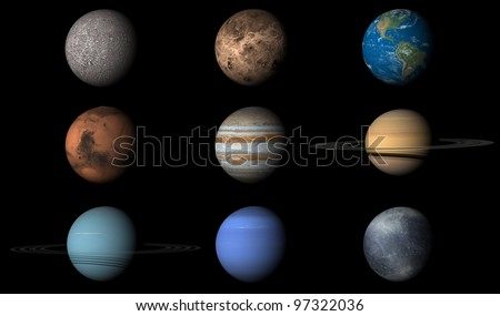 planets in order with pluto - photo #9