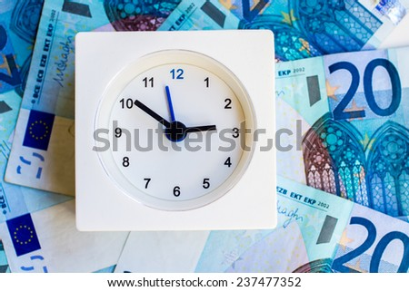 the representation of idioms: time is money - stock photo